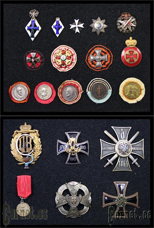 Collection of badges.