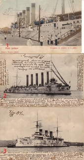 Postkards with ships